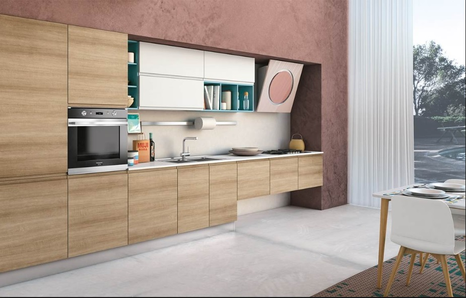 Cucina Creo Kitchens Lube Cucine Moderna Con Maniglia Integrata Modello Jey Mobil Discount