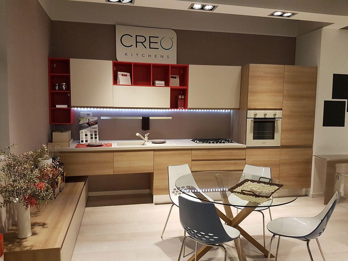 Cucina creo kitchens lube cucine moderna con maniglia integrata modello jey mobil discount - Cucina creo jey prezzi ...