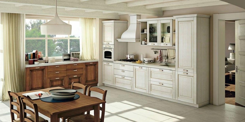 Cucina creo kitchens lube cucine classica con anta in legno massello a telaio modello oprah - Cucina lube classica ...
