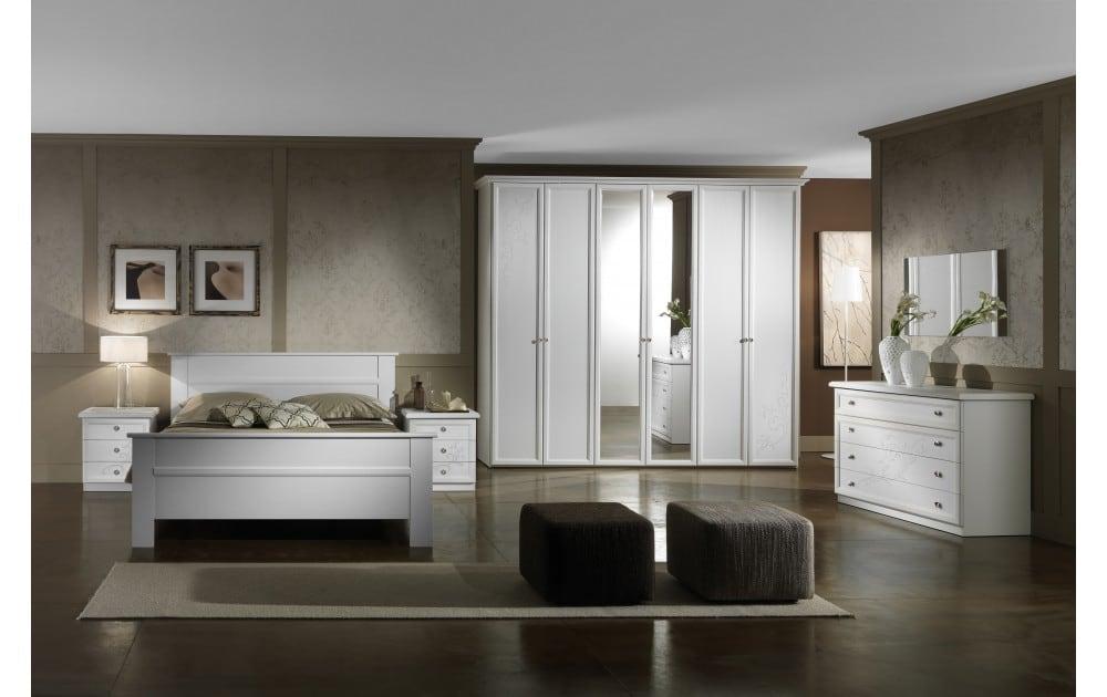 Camera matrimoniale classica bianca modello ginevra - Camera matrimoniale bianca ...