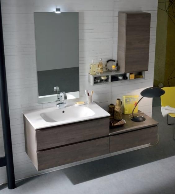 mobile da bagno moderno con cestoni sospeso modello b-go art 27