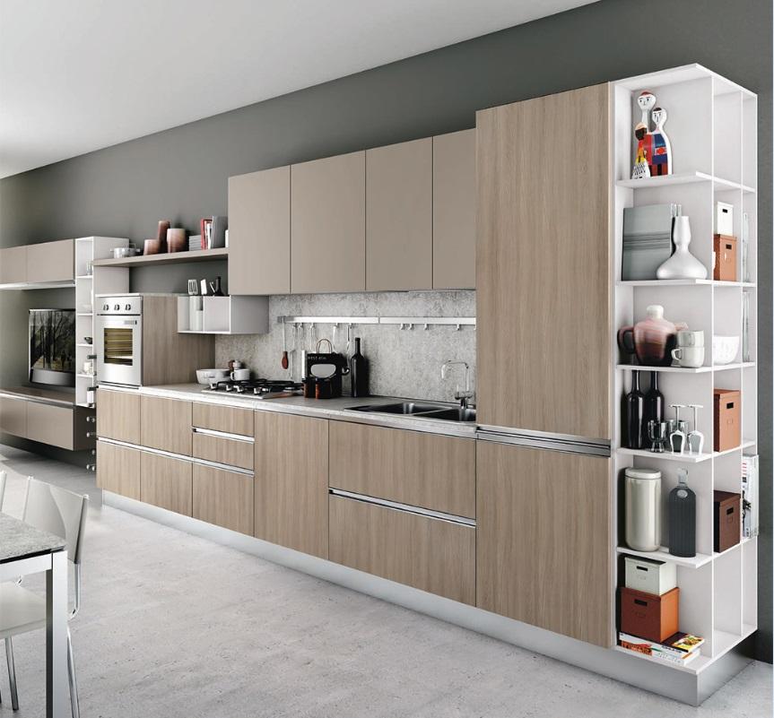 Cucina Creo Kitchens Moderna Con Anta Lucida E Melaminico Modello Nita Mobil Discount