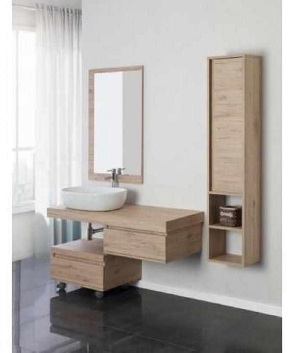 Mobile da bagno moderno e sospeso modello shelf 120 mobil discount - Copricolonna bagno moderno ...