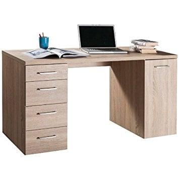 Scrivania per camerette o per ufficio tinta rovere sonoma for Mobili ufficio outlet