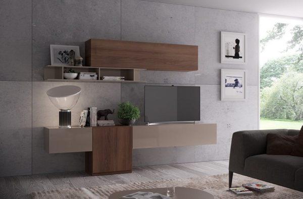 Soggiorno Moderno Componibile Sospeso Giessegi 575 living