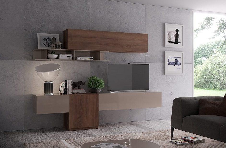 Soggiorno Moderno Componibile Sospeso Giessegi 522 living - Mobil ...