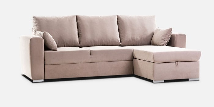 Divano letto con penisola contenitore reversibile for Divano letto con contenitore
