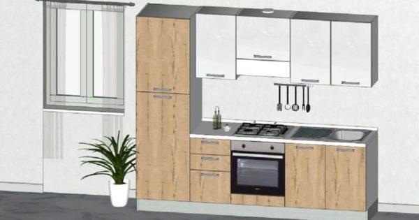 Bloccata cucina moderna in promozione completa di for Regalo cassettiera
