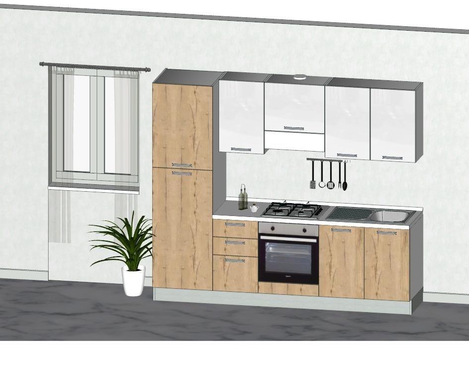 Cucina moderna in promozione completa di elettrodomestici for Cucina completa offerta