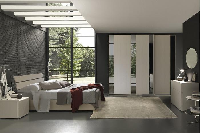 Camera matrimoniale moderna con armadio scorrevole con for Arredamento camera matrimoniale moderna