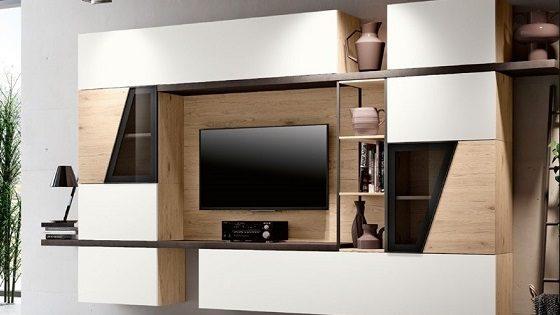 Soggiorno moderno sospeso componibile modello mito 3 0 for Composizione soggiorno moderno