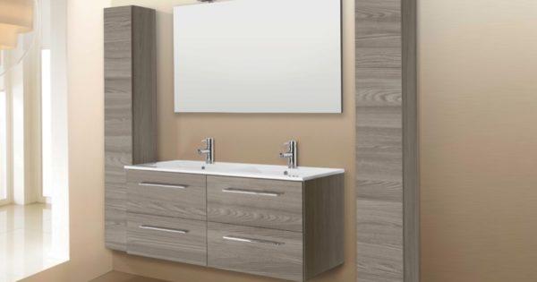 Mobile da bagno sospeso con due lavabi modello noemi mobil discount - Bagno con due lavabi ...