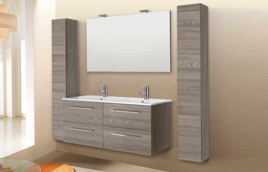 Mobile da bagno sospeso con due lavabi modello noemi - Mobile bagno con due lavabi ...