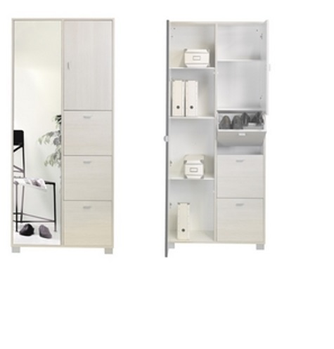 Scarpiera E Multiuso Con Anta Specchio Art 7424 Sarmog - Mobil Discount