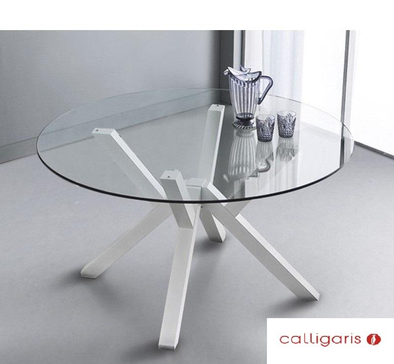 Calligaris offerta tavolo rotondo in vetro modello for Tavolo vetro bianco calligaris
