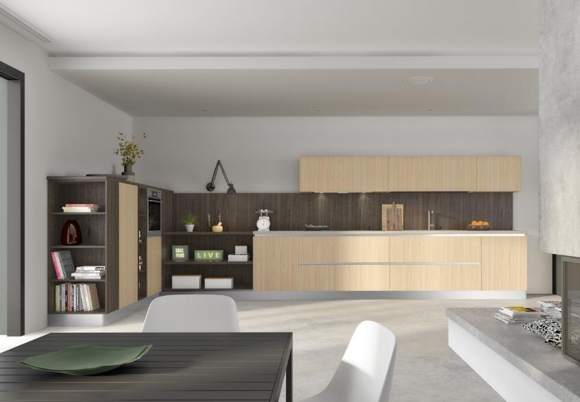 Cucina essebi moderna componibile con anta in conglomerato for Scheda tecnica anta ribalta giesse