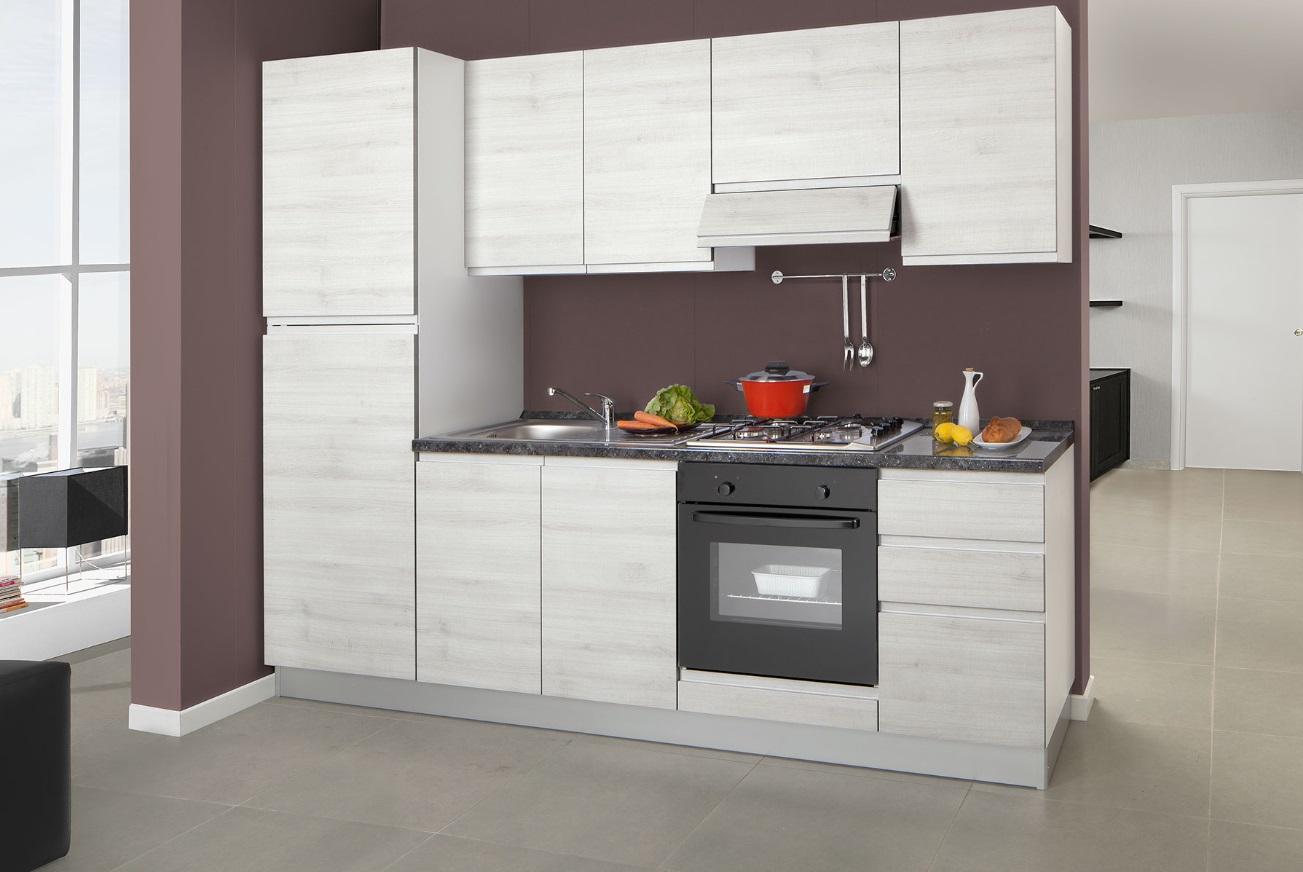 Promozione Offerta Cucina Moderna Completa Elettrodomestici.Cucina Bloccata Cm 255 Completa Di Elettrodomestici Da Promozione Modello Kelly Net Cucine