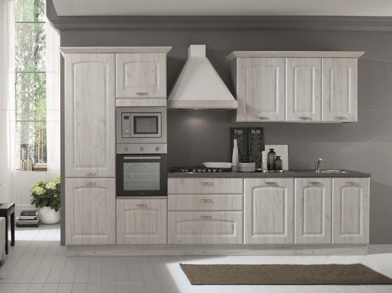 Cucina Bloccata Cm 360 Classica Completa Di Elettrodomestici E  Lavastoviglie Da Promozione Modello Sofia Net Cucine