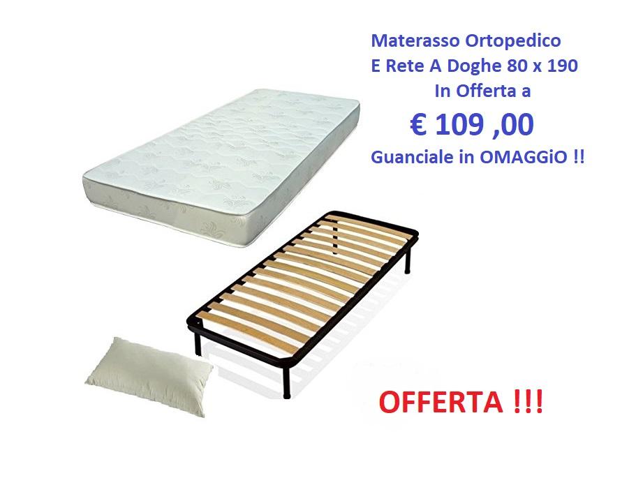 ATTENZIONE : Rete a Doghe + Materasso Singolo Ortopedico ...