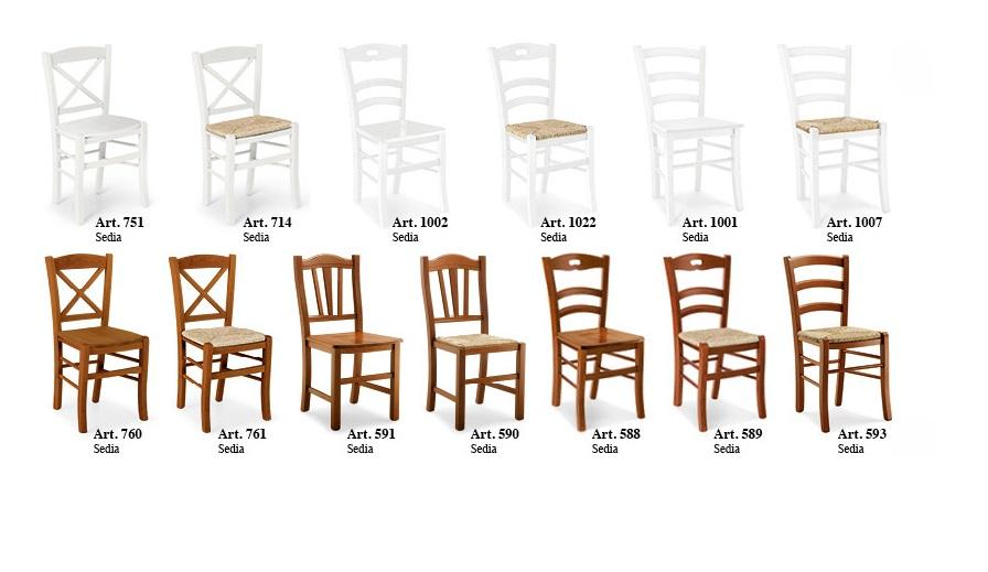 Sedie Classiche In Legno Prezzi.Sedie Classiche In Stile Legno E Paglia Tinta Noce O Bianco In