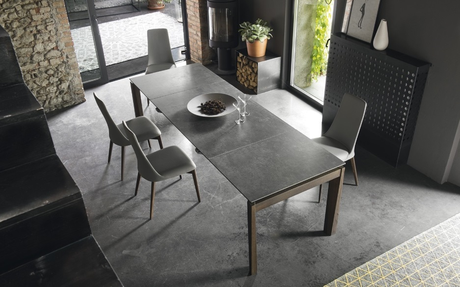 Calligaris Offerta : Tavolo Con Gambe In Metallo E Piano In Ceramica ...