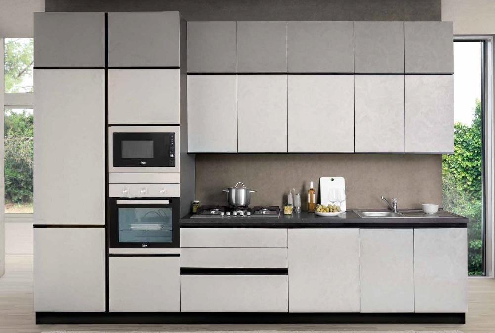 Cucina Cm 360 Completa Di Elettrodomestici Beko Con Lavastoviglie E  Microonde In Omaggio E Gola Modello Zoe Net Cucine
