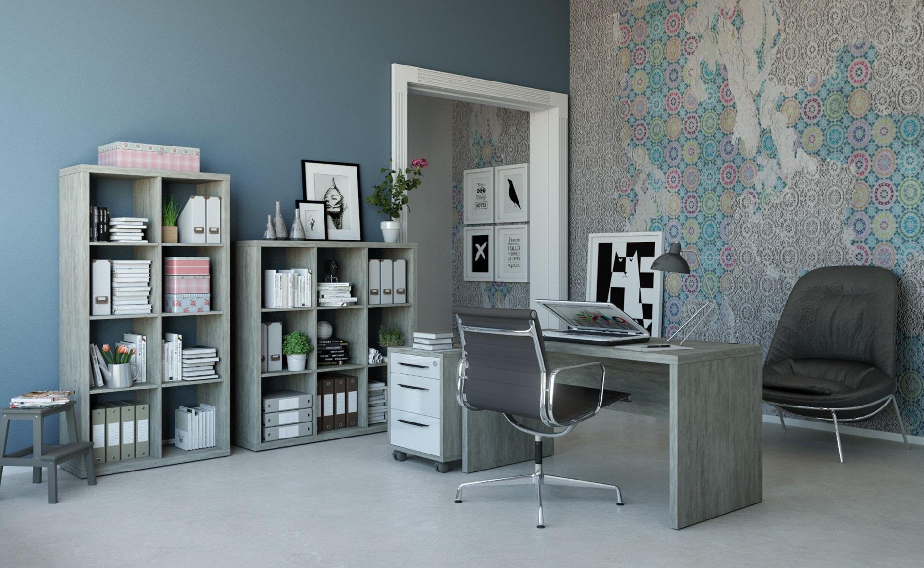 Ufficio componibile tinta tartufo modello pratico composad for Ufficio discount