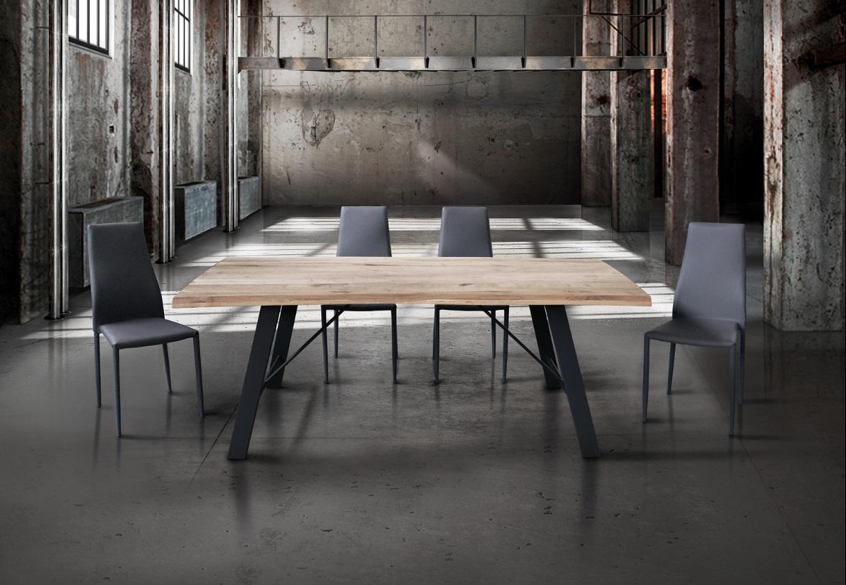 Tavolo moderno e di design fisso con piano in legno for Tavolo legno moderno design